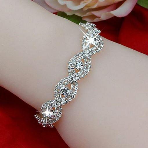 Image sur Zarif Deluxe Gümüş Kristal  Bileklik Takı