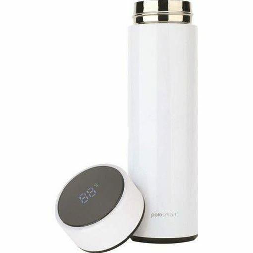 Polosmart PSH01 LED Göstergeli Dijital Termos Beyaz Resmi