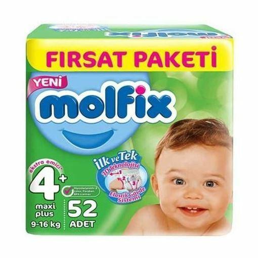 Molfix 3D Fırsat Paketi Bebek Bezi 9-16 KG 4+ Beden 52 Adet Resmi