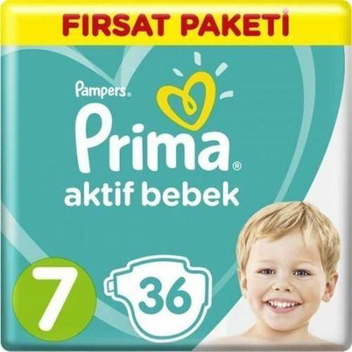 Prima Bebek Bezi Aktif Bebek 7 Beden XX Large Fırsat Paketi 36 Adet Resmi
